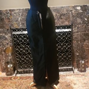 Long thick satin skirt